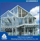 Villa prefabbricata di lusso di configurazione veloce chiara della struttura d'acciaio