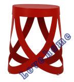 Modern Restaurant Ribbon Common Metal Bar Stools