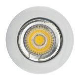 Morire il nichel bianco il LED messo fisso rotondo Downlight (LT1002) del raso della fusion d'alluminio GU10 MR16