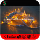 Iluminação feericamente do fio de borracha da decoração do feriado