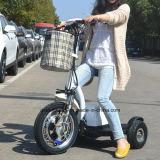 3つの車輪のセリウムが付いているFoldable電気スクーターのTrikkeの移動性のスクーターの電気自転車
