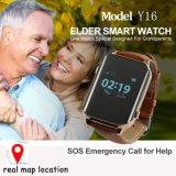 心拍数のモニタ及び丸薬アラームY16が付いている熱いGPSの追跡者の腕時計