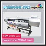 Длина 1,9 м - экологически чистых растворителей принтер с двумя Dx5/Dx7 печатающей головки