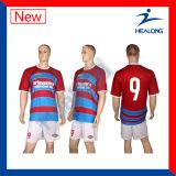Camisas feitas sob encomenda do futebol da camisola do futebol da camisola do futebol de Healong