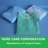 의학 처분할 수 있는 병원 짠것이 아닌 외과의사 격리 외과용 가운 (SC-SG001)