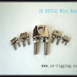 밧줄 루프를 위한 스테인리스 DIN741 철사 밧줄 죔쇠