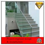 Pasamanos de escalera de cristal de acero inoxidable Diseño para dentro y fuera de