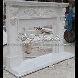 Camino bianco semplice del fiore di Carrara per mobilia Mfp-1158