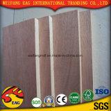 compensato dell'annuncio pubblicitario di memoria del pioppo/legno duro/Eucalypt del fronte di Okoume di colore rosso di 5mm
