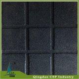 黒いカラー500X500サイズの適性部屋のためのゴム製フロアーリングのマット