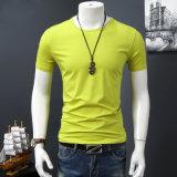 Maglietta asciutta di forma fisica della camicia di misura della maglietta bianca del cotone