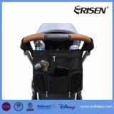 Saco Multifunctional do tecido dos compartimentos do armazenamento do organizador do carrinho de criança do Buggy de bebê