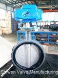 Клапан-бабочка ISO5752 с шестерней глиста/электрическим силовым приводом