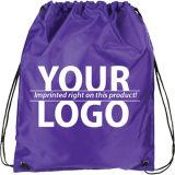 Выдвиженческий мешок хлопка Drawstring с печатание логоса клиента