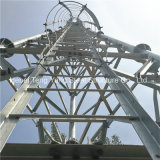 De gegalvaniseerde Toren Atenna van de Telecommunicatie van het Rooster van het Staal Driehoekige