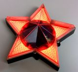 Pentagram Five-Pointed Star Solar Wall Decoração Lamp Light
