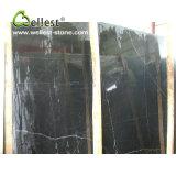 De natuurlijke Zwarte Marmeren Countertop van de Keuken van de Plak Bovenkant van de Ijdelheid van de Badkamers van de Steen