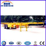 2 محور العجلة [40فت] /20FT وعاء صندوق نقل شاحنة هيكل مقطورة