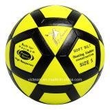 Balón de fútbol impermeable amarillo brillante del último diseño