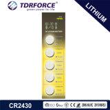3V Batterij van het Lithium van de Cel van de Knoop van Cr2430 Non-Rechargeable met Ce voor Stuk speelgoed
