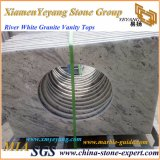 Encimera blanca de la cocina del granito del río para la cocina/el cuarto de baño/la barra (YY-MS197)