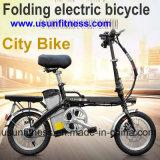 La mini bicyclette de ville retirent la batterie 14inch pliant le vélo électrique pour l'adulte