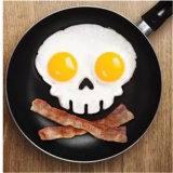 Molde da panqueca do silicone do crânio de Sy05-01-002 FDA para o ovo fritado