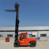 Carretilla elevadora diesel del precio de fábrica 10ton con la cabina hecha en China