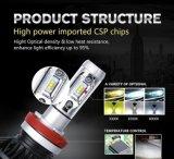 최고 밝은 X3 LED 헤드라이트 전구, 6000lm 차 H4 LED 헤드라이트 전구