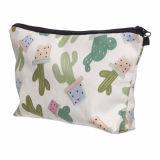 sac cosmétique d'article de toilette de course de renivellement de lavage de femmes du polyester 300d