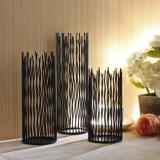Cylindre creux, Home Decor Metal porte-bougie pour la décoration
