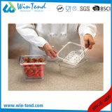 熱い販売の証明書BPAはレストランの台所透過プラスチック1/6サイズの点滴注入の皿を放す