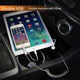 Socket portuario del cargador del USB del coche 2 duales del interfaz del socket del adaptador del USB del cargador para Toyota para el iPhone para el cargador del teléfono del coche de Xiaomi