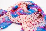 Coutume en soie d'écharpe d'écharpe carrée estampée par onde de mode