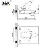Robinet de baquet de salle de bains plaqué par chrome simple chaud aérodynamique de traitement de vente de modèle