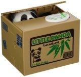 Caja de Ahorro de dinero para los niños regalo lindo Panda automático del Banco de la moneda aprovechar Coin