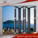 El bastidor de aluminio Cristal Bi-Folding puerta de doble cristal de la puerta de oscilación