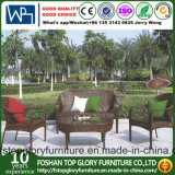 Sala de estar al aire libre Jardín PE Rattan sofá con mesa de té (TG-258)