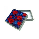 Kundenspezifische handgemachte Drucken-Blumen-verpackenkasten mit Fenster-Kappe