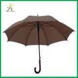 Гольфа рамки стеклоткани черноты ткани Pongee автомобиля зонтик открытого прямой с деревянной ручкой