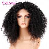 Бразильским волосяный покров фронта шнурка человеческих волос малайзийский курчавым Pre-Общипанный париком