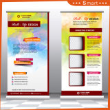 Promotion Roll up Banner Stand avec crochet en plastique bar, d'aluminium Roll up Stand