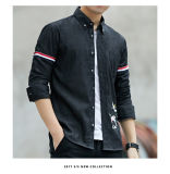 Coton 100% à la mode brodé de jachère en chemise des hommes