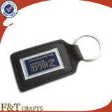 도매업 가죽 Keychain 선전용 주문 진짜 가죽 Keychains