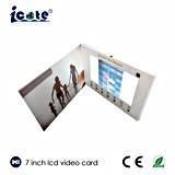 7inch에 의하여 주문을 받아서 만들어지는 LCD 영상 권유 카드 또는 선물 카드 또는 인사장