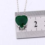 De eenvoudige Juwelen van de Halsband van de Vorm van het Hart van de Steen van de Stijl Groene voor Meisjes