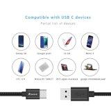Samsungギャラクシーノート8のSamsungギャラクシーS8/S8のための速い充電器ケーブルUSB 3.1のタイプCの高速ナイロン編みこみのコードと、LG G6