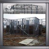 Villa mobile personalizzata del pavimento dell'acciaio 2 dell'indicatore luminoso della struttura d'acciaio per gli uffici provvisori
