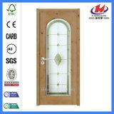 Нутряные твердые деревянные двери Tempered стекла PVC (JHK-G02)