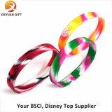 Wristband del silicone reso personale promozione morbida su ordinazione 2015 (XY-MXL72902)